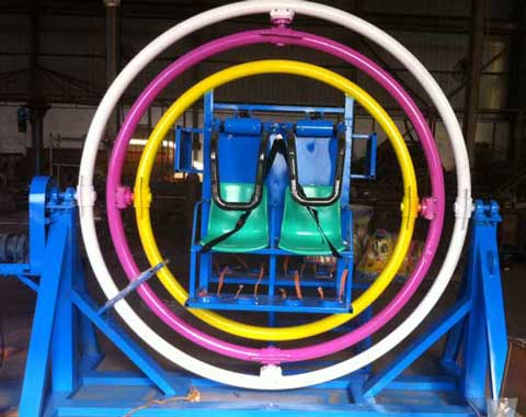 4-seat Human Gyroscope Ride for Sale