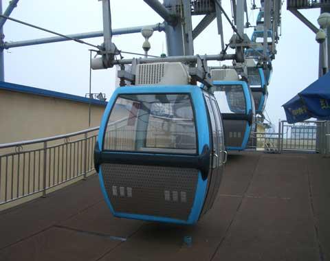 Cabins of the Ferris Wheel in Beston