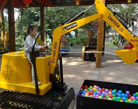 Coin-operated Kids Excavator Ride for Sale