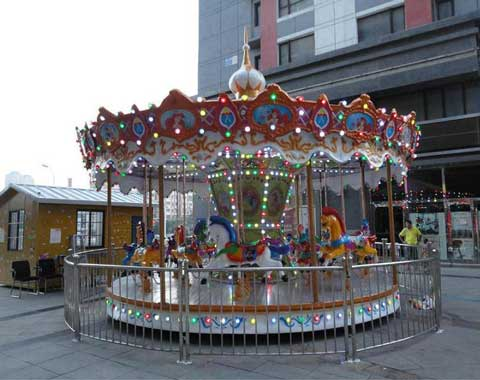 A Kiddie Carousel with the Theme of Fariy Tale