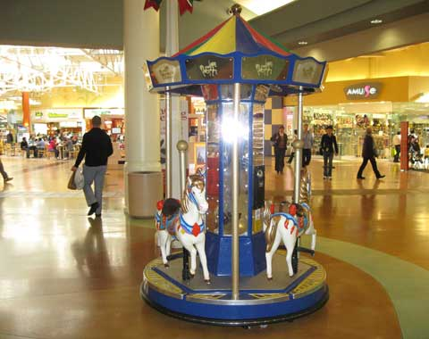 Coin-operated Kiiddie Carousel Ride for Mall