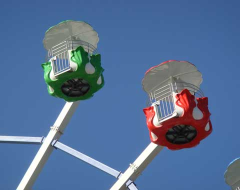 A Picture of Small Cabins of the Ferris Wheel