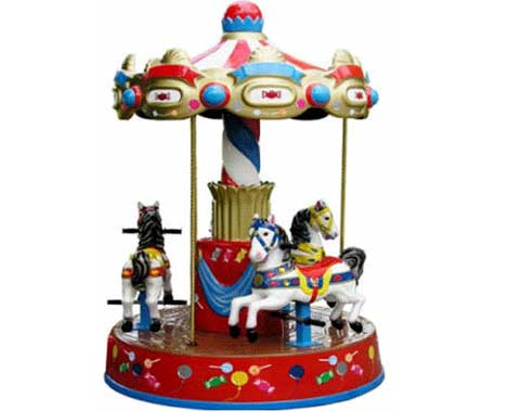 3-horse Kiddie Small Carousel Ride for Sale from Beston