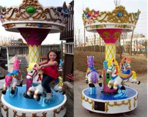 3-horse Small Carousel for Kids from Beston