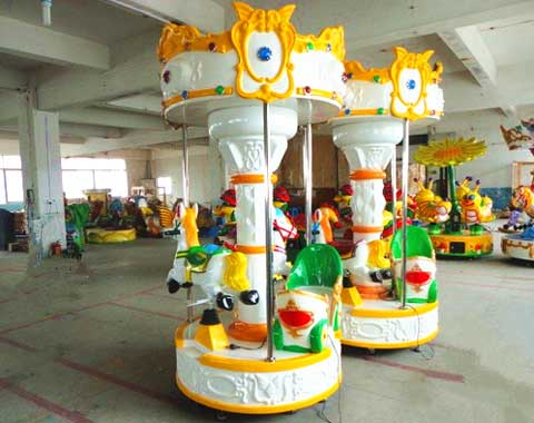3-seat Small Carousel Amusement Ride for Sale