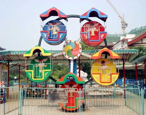 5-cabin Basket Mini Ferris Wheel for Sale from Beston