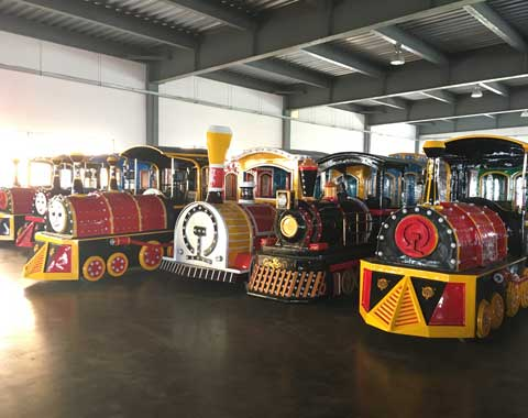 Amusement Park Trains in the Factory of Beston