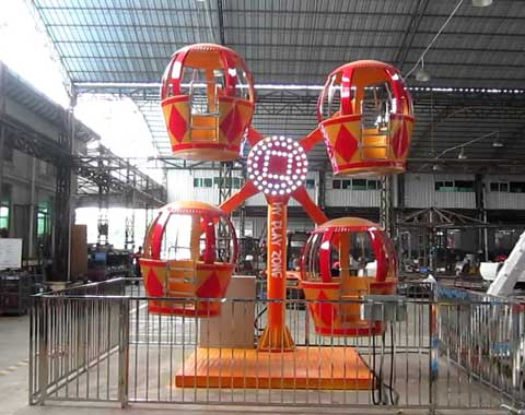 4-cabin Mini Kiddie Ferris Wheel for Sale