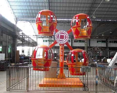 4-cabin Mini Kiddie Ferris Wheel for Sale