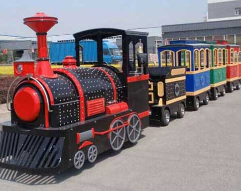 Classic Trackless Train Ride in Beston