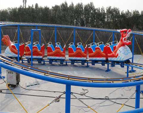 Dragon Small Roller Coaster for Sale-Red