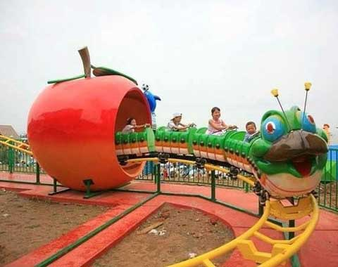 Fruit Worm Small Roller Coaster for Sale from Beston