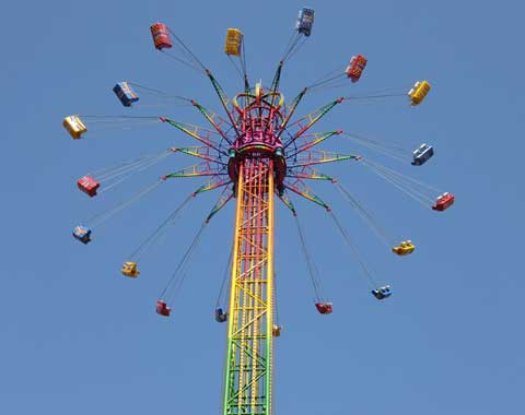 48-meter Swing Tower Ride for Sale Manufactured by Beston