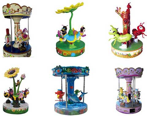 Coin-operated Small Carousel Rides from Beston