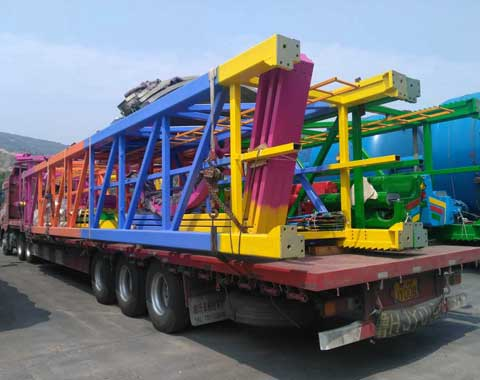shipment picture of swing tower rides of Beston