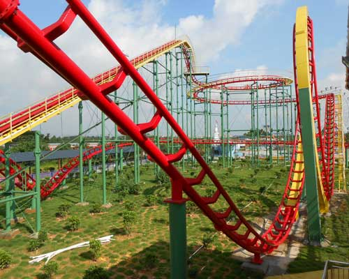 3 Loop Roller Coaster for Sale
