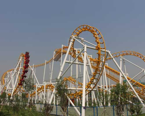 Regular Size Suspended Roller Coaster for Park