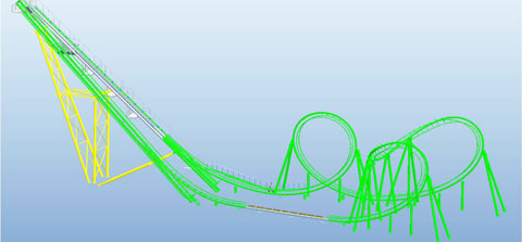 Design Of New Cobra Roller Coaster For Sale - Beston Company
