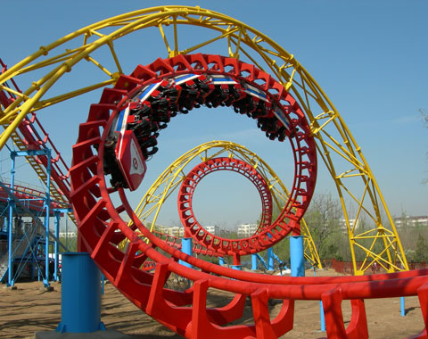 BNR 01 - Large Four-loop Roller Coaster For Sale In Indonesia - Beston Factory