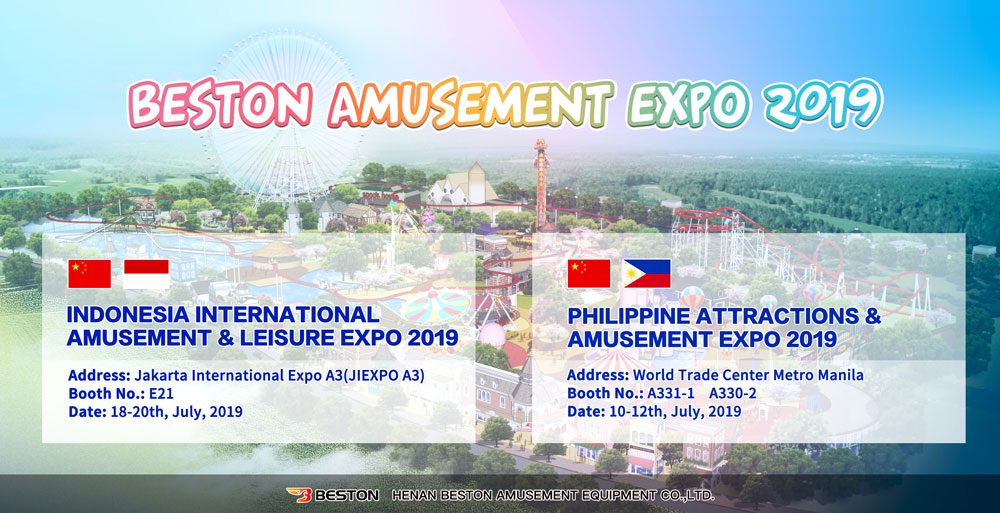 The Plan of Beston Amusement EXPO 2019 In Indonesia & Philippines