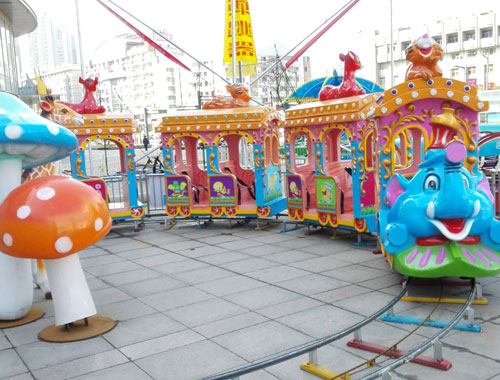 KTR 02 - Kiddie Train for Sale to Pakistan - Beston Factory