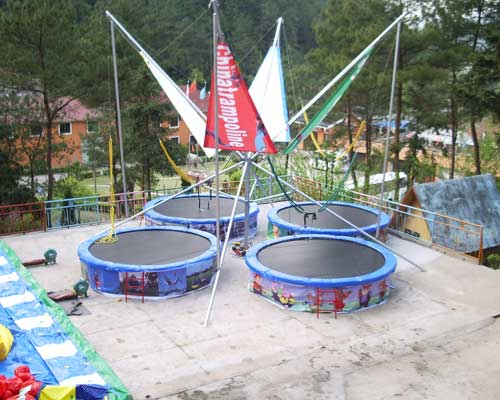 Four Person Bungee Trampoline for Kids